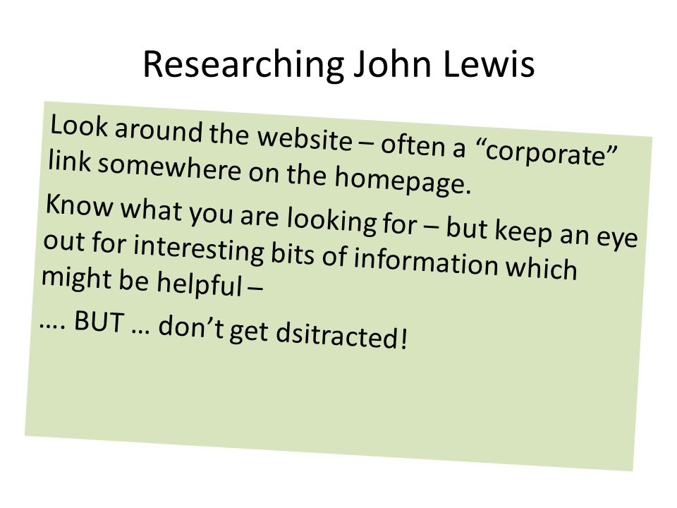Researching John Lewis