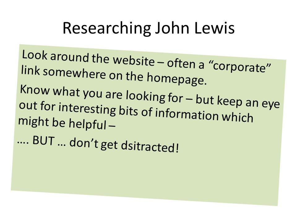 Researching John Lewis