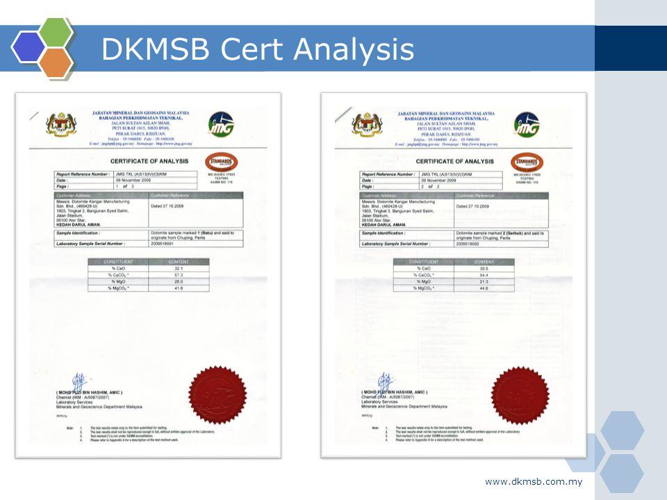 DKMSB Cert Analysis www.dkmsb.com.my