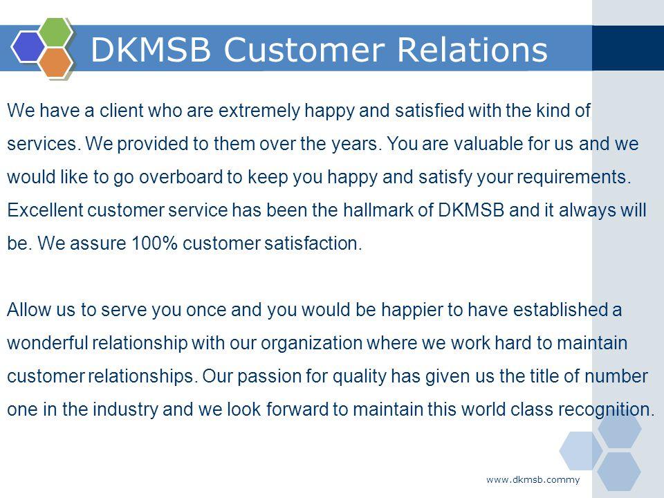 DKMSB Customer Relations