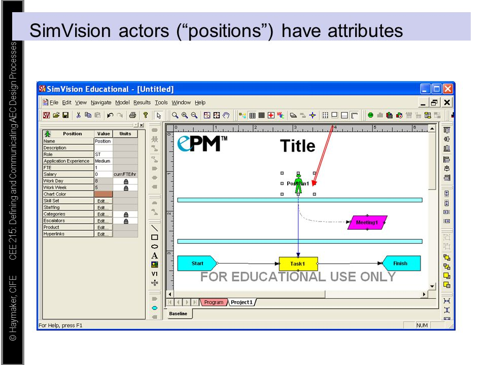 SimVision actors ( positions ) have attributes