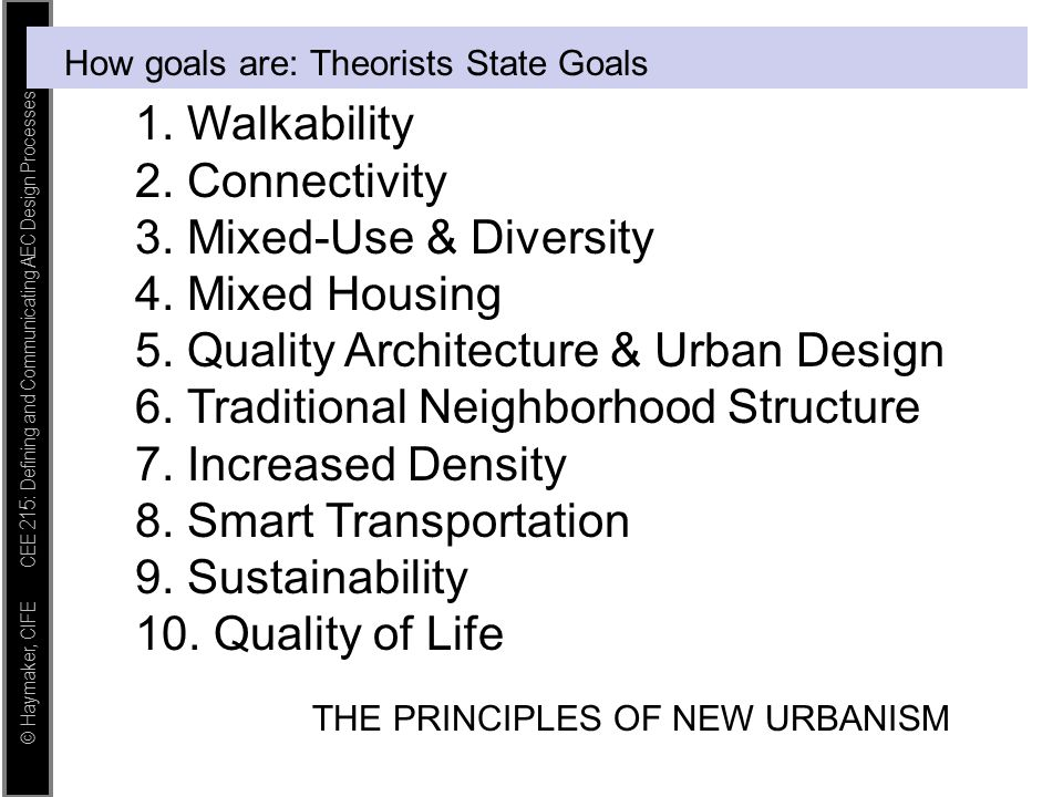 How goals are: Theorists State Goals