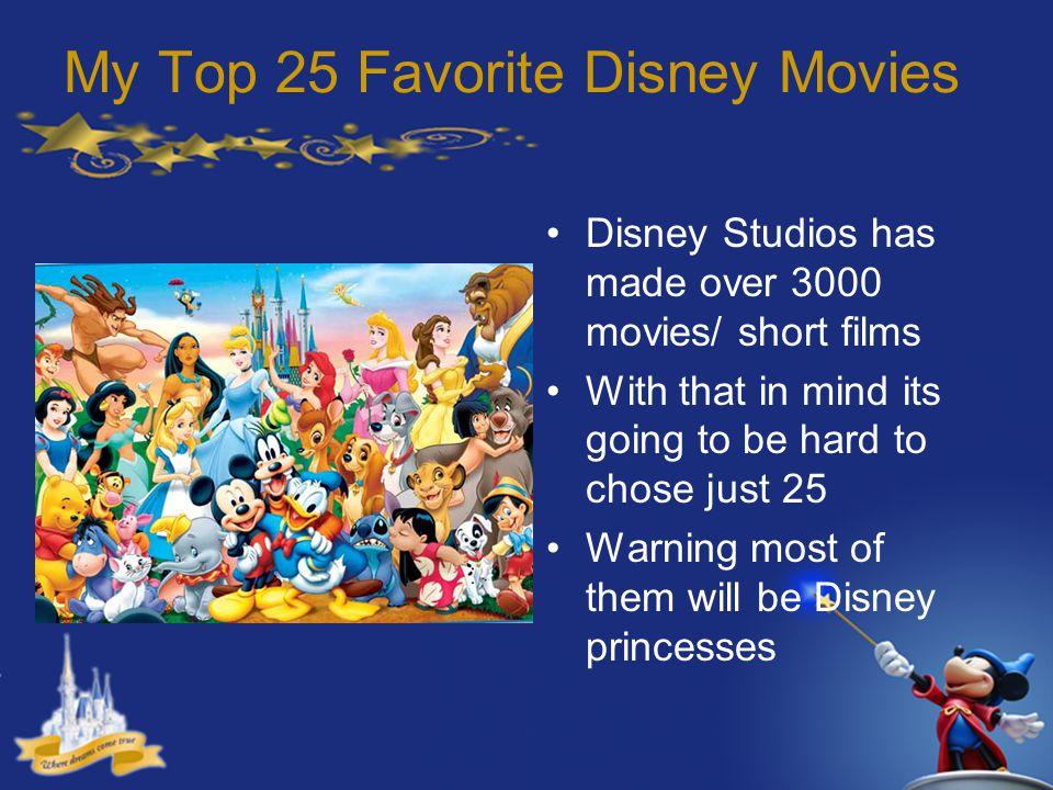 My Top 25 Favorite Disney Movies