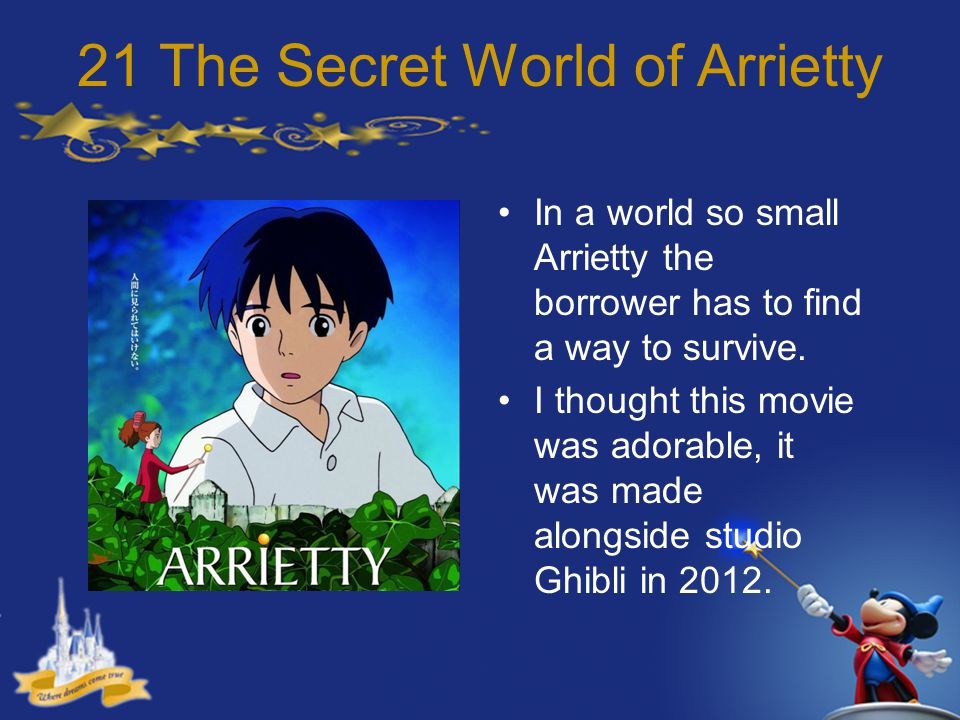 21 The Secret World of Arrietty