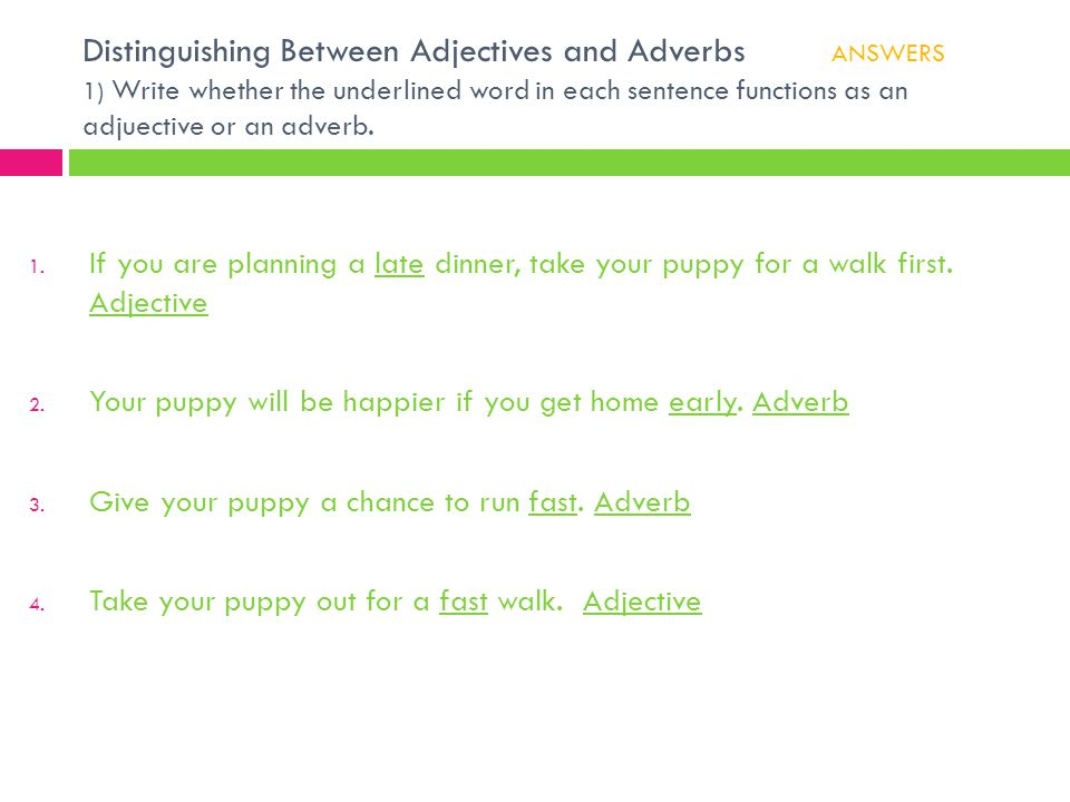 Distinguishing Between Adjectives and Adverbs
