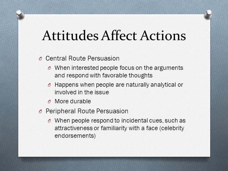 Attitudes Affect Actions