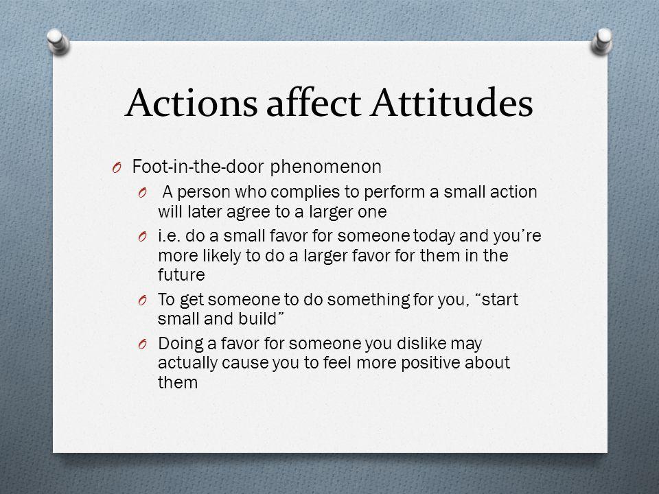 Actions affect Attitudes
