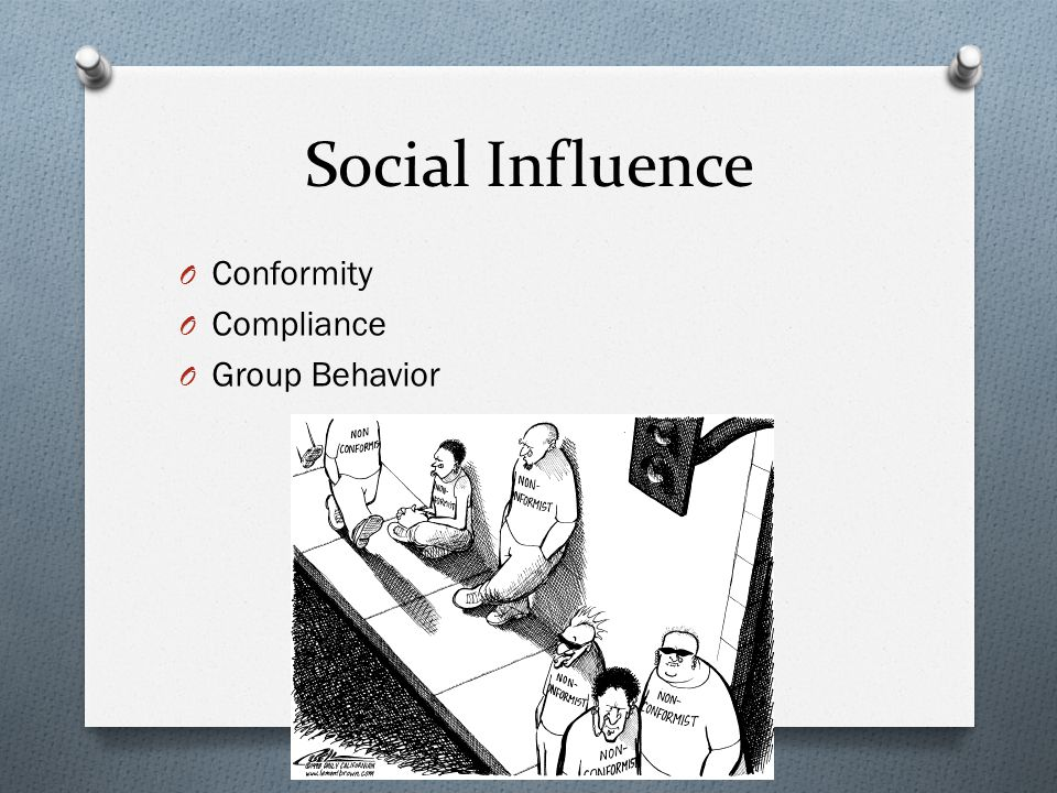 Social Influence Conformity Compliance Group Behavior