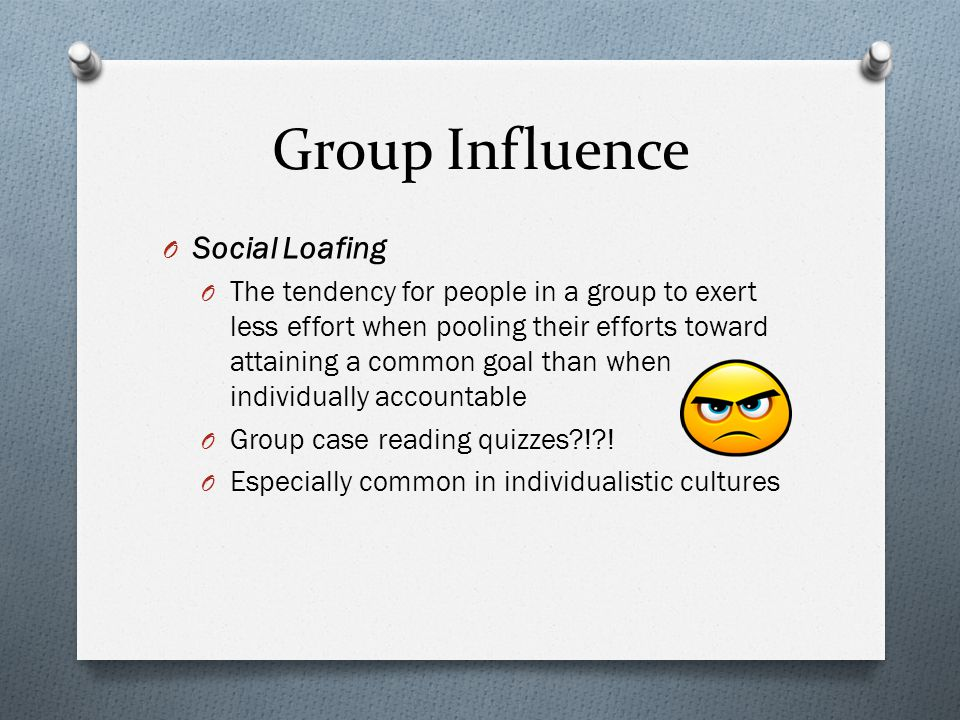 Group Influence Social Loafing