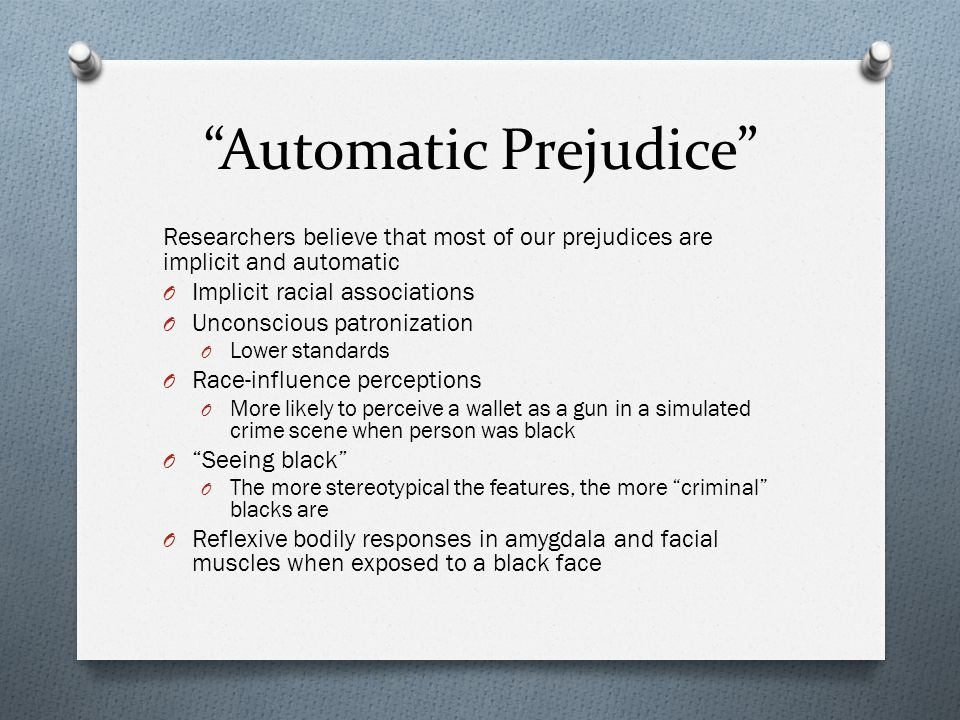 Automatic Prejudice