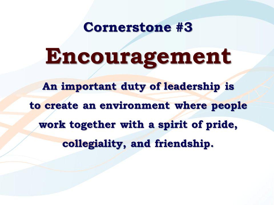 Encouragement Cornerstone #3