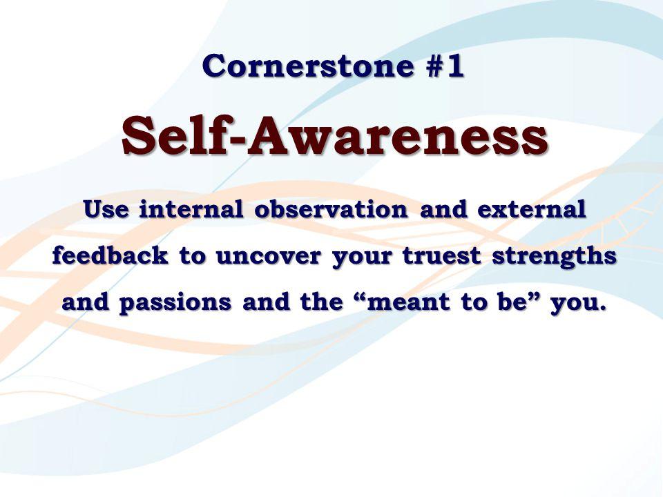 Self-Awareness Cornerstone #1