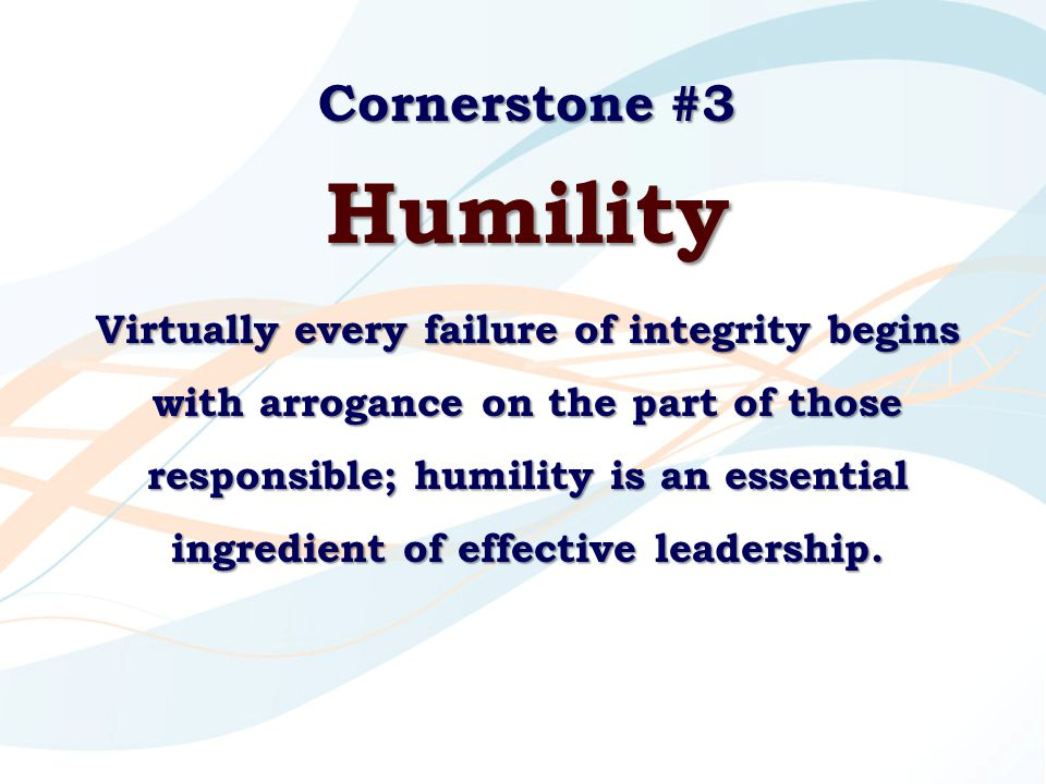 Humility Cornerstone #3
