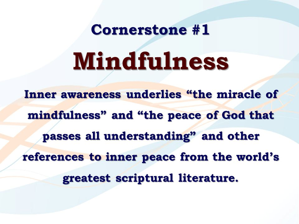 Mindfulness Cornerstone #1
