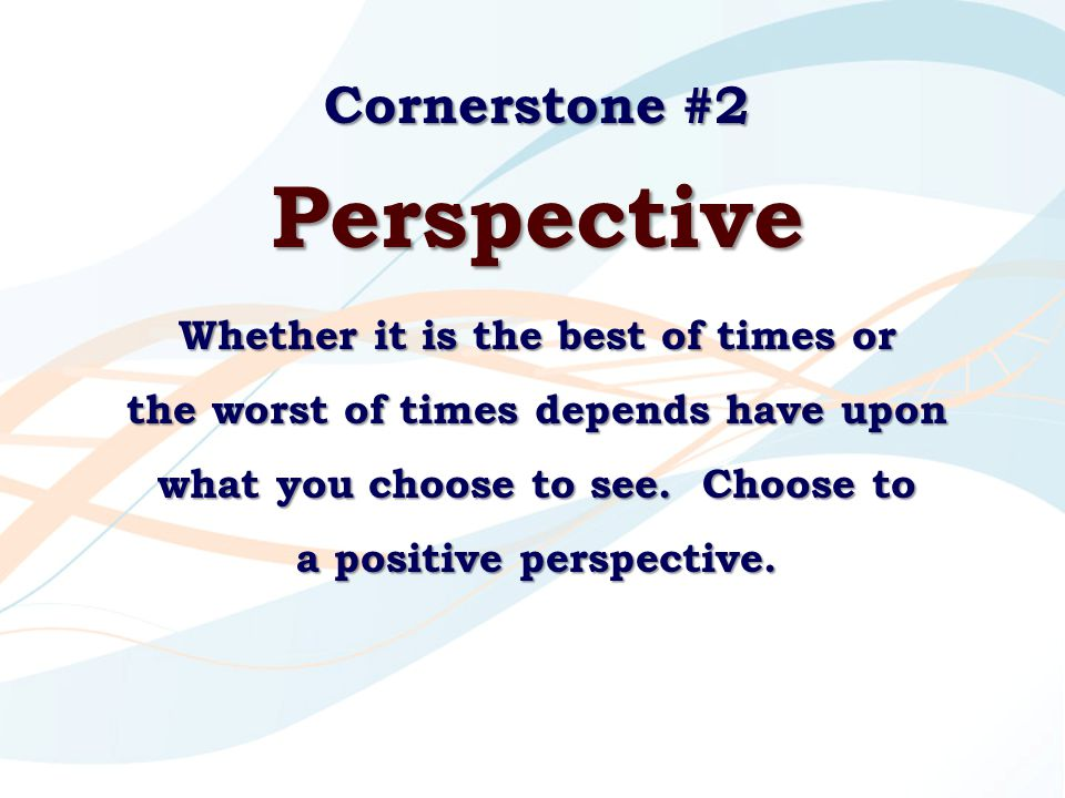 Perspective Cornerstone #2