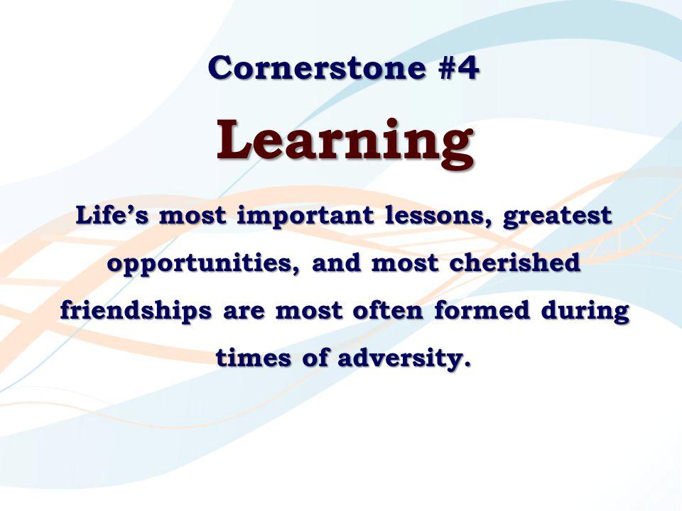 Learning Cornerstone #4