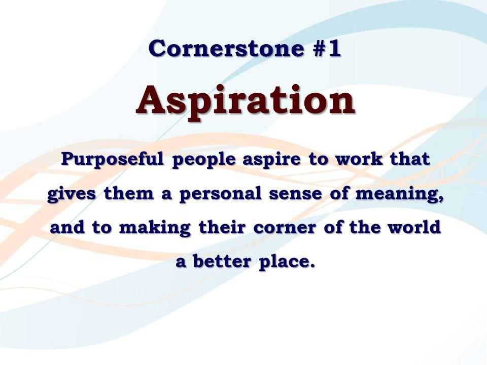 Aspiration Cornerstone #1
