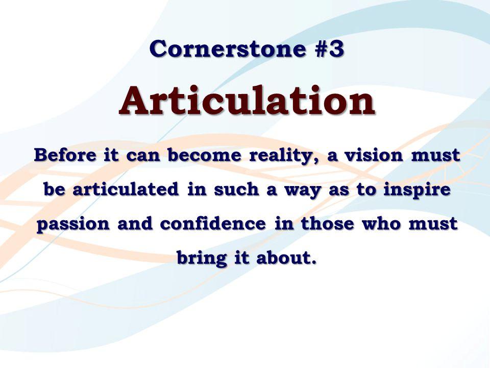 Articulation Cornerstone #3