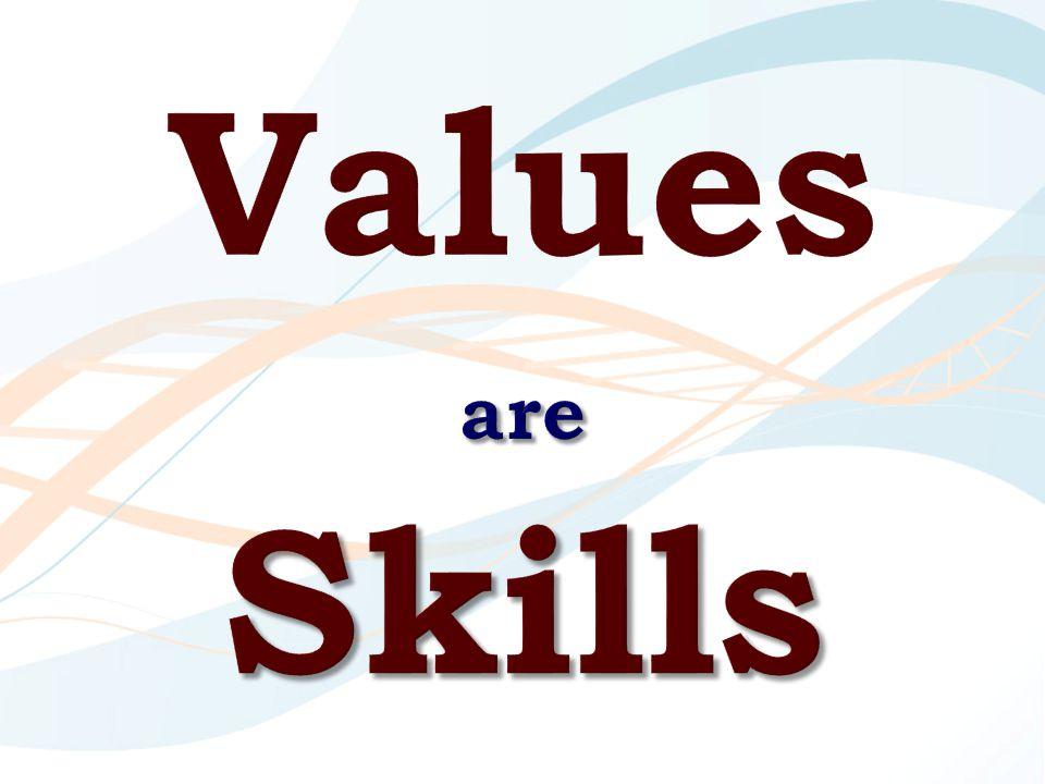 Values are Skills