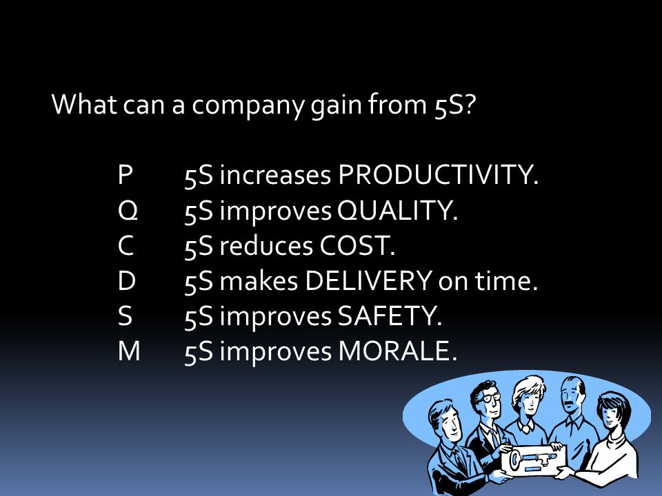 What can a company gain from 5S