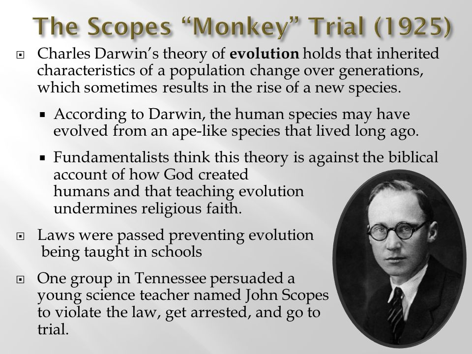 The Scopes Monkey Trial (1925)