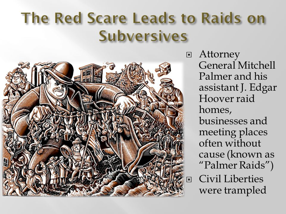 The Red Scare Leads to Raids on Subversives