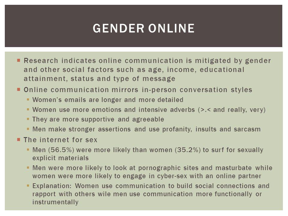Gender online