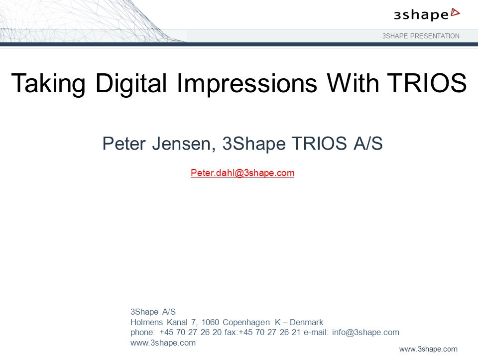 Taking Digital Impressions With TRIOS