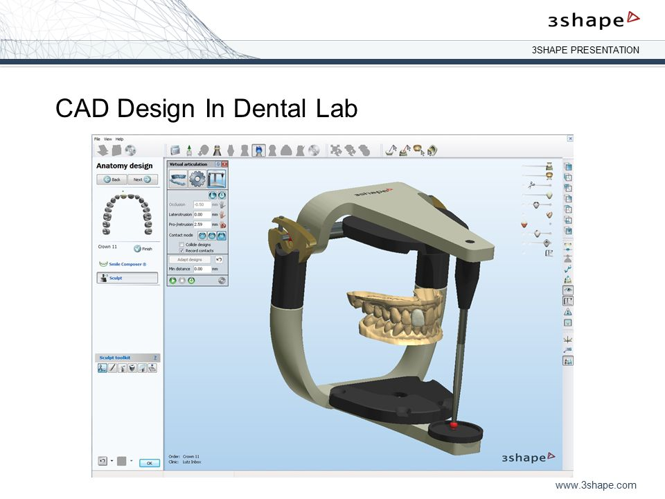 CAD Design In Dental Lab