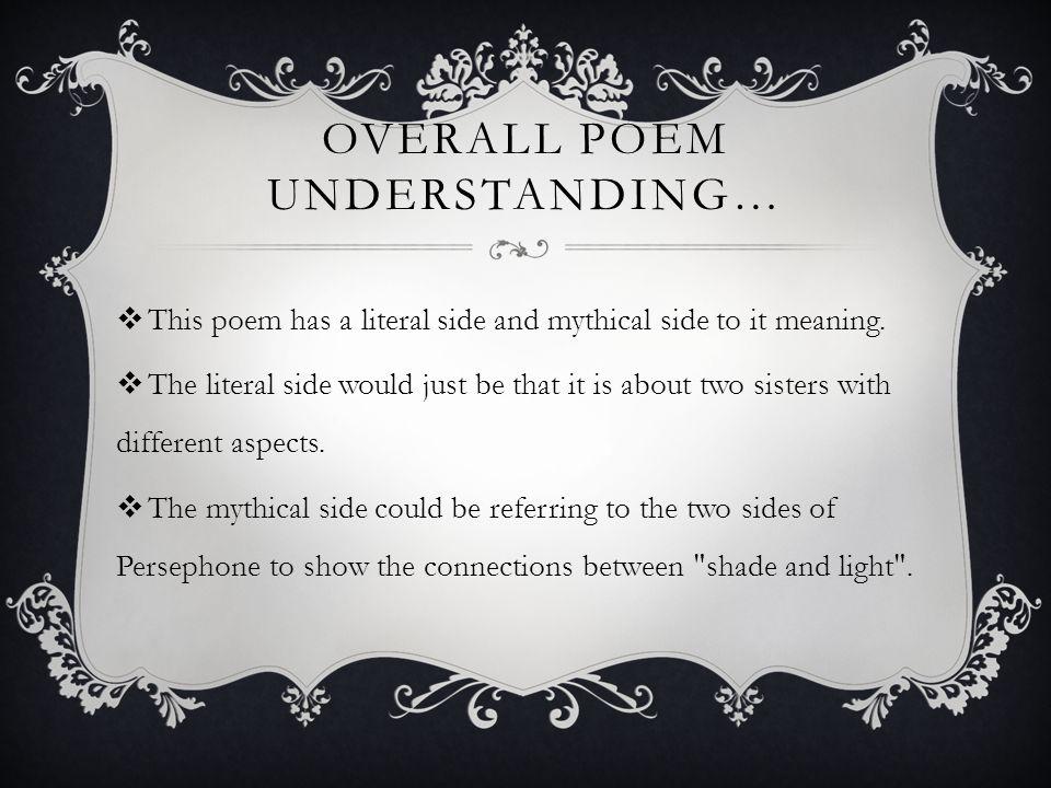 Overall poem understanding…