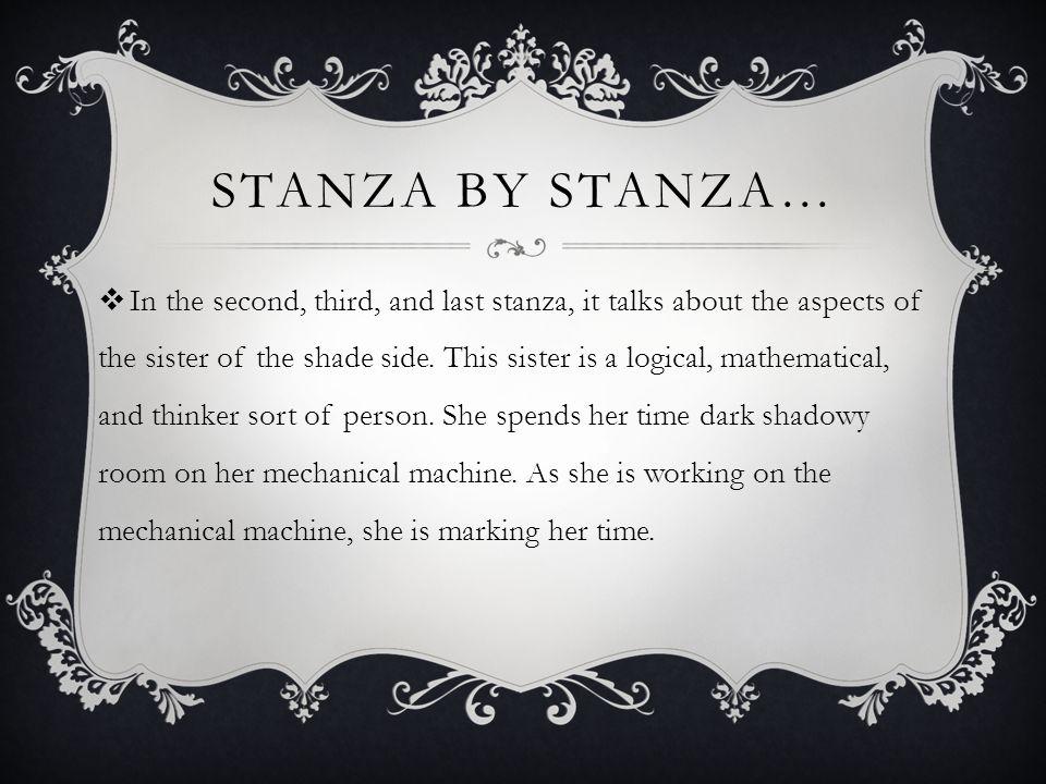 Stanza by Stanza…