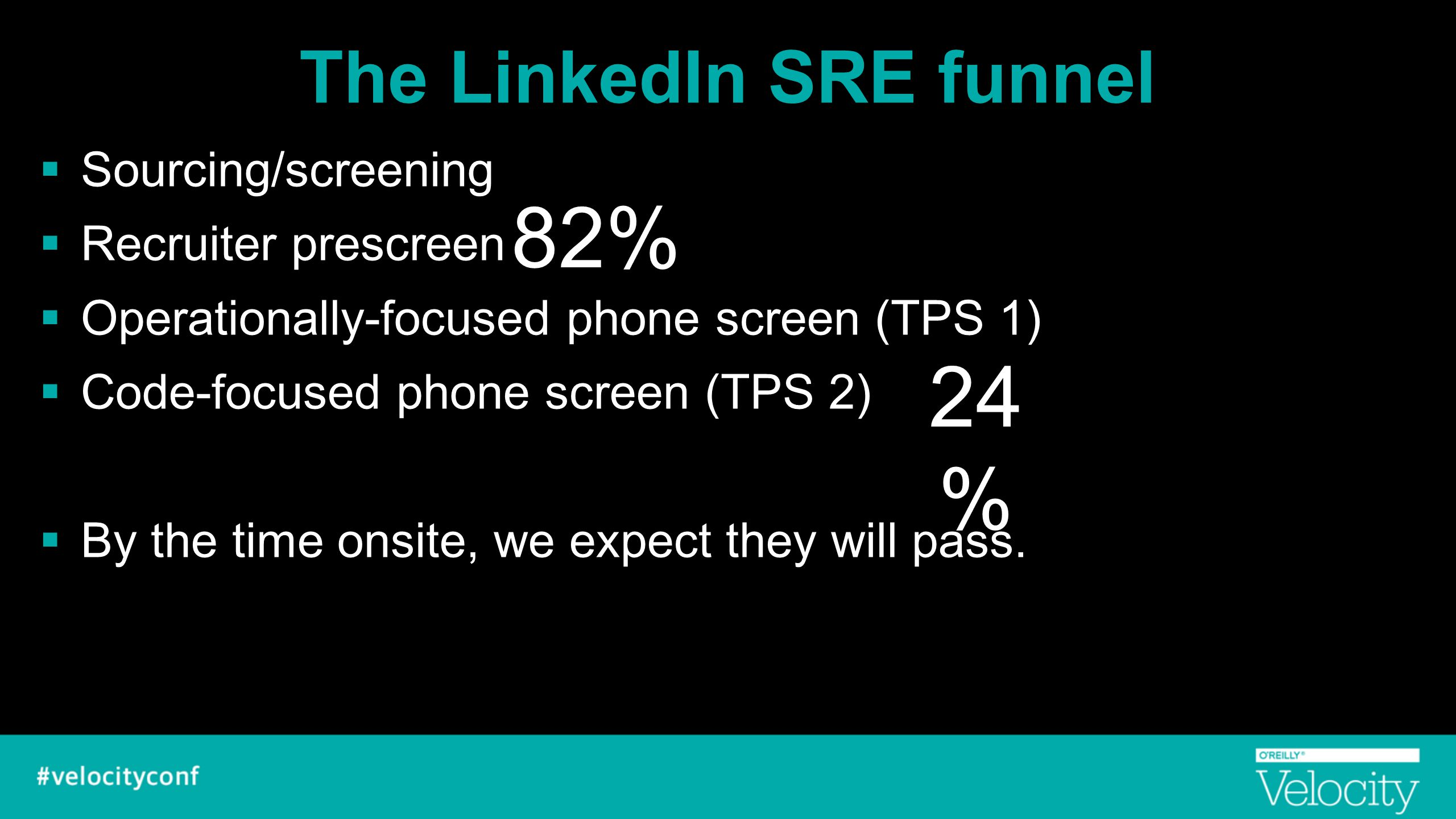 The LinkedIn SRE funnel