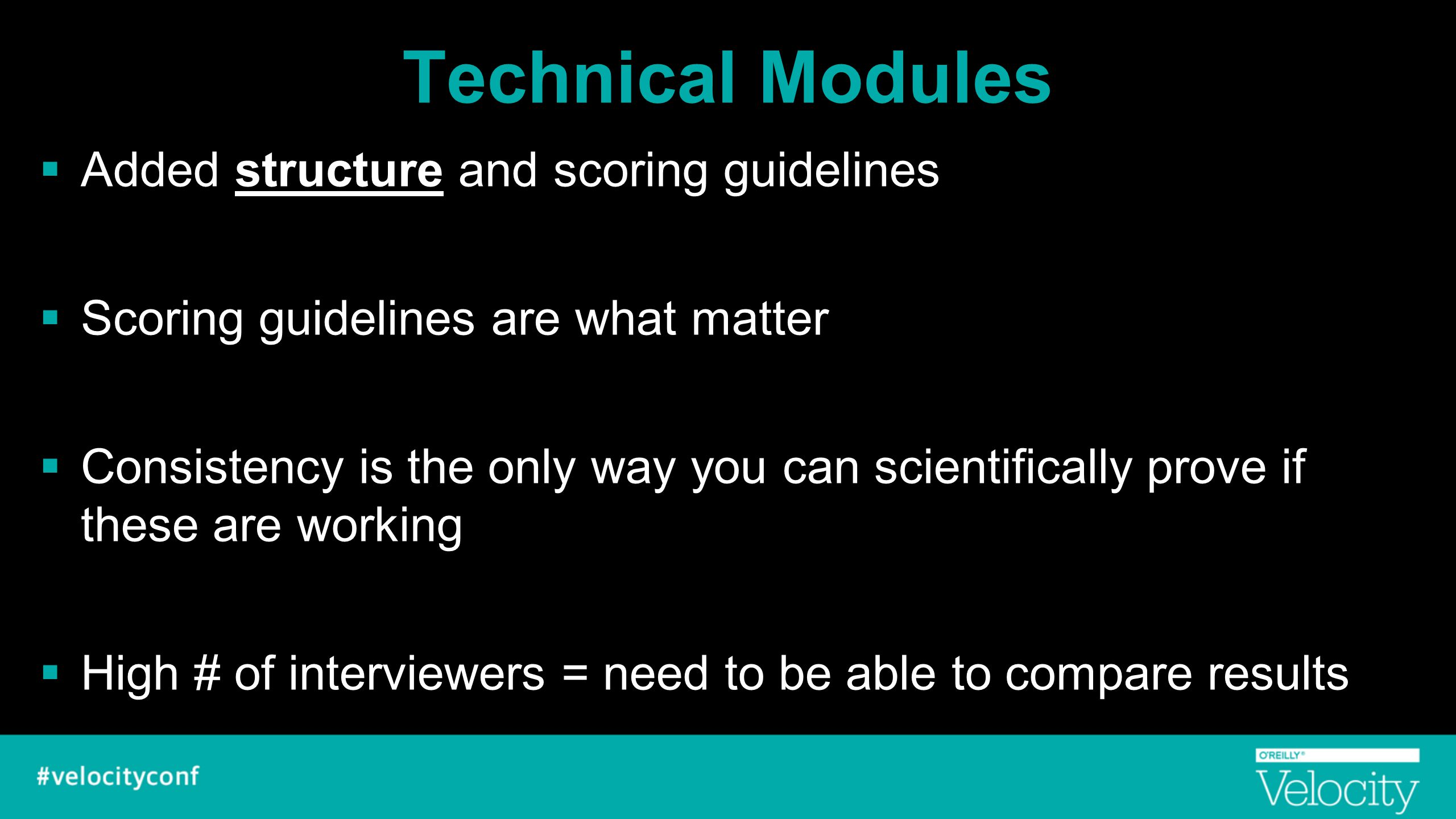 Technical Modules Added structure and scoring guidelines