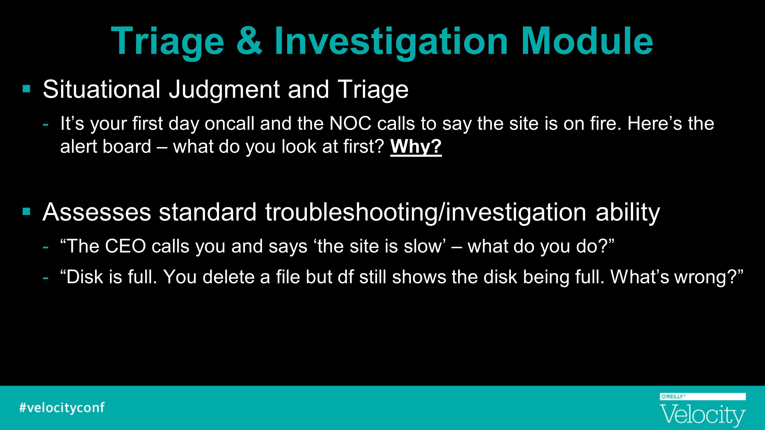 Triage & Investigation Module