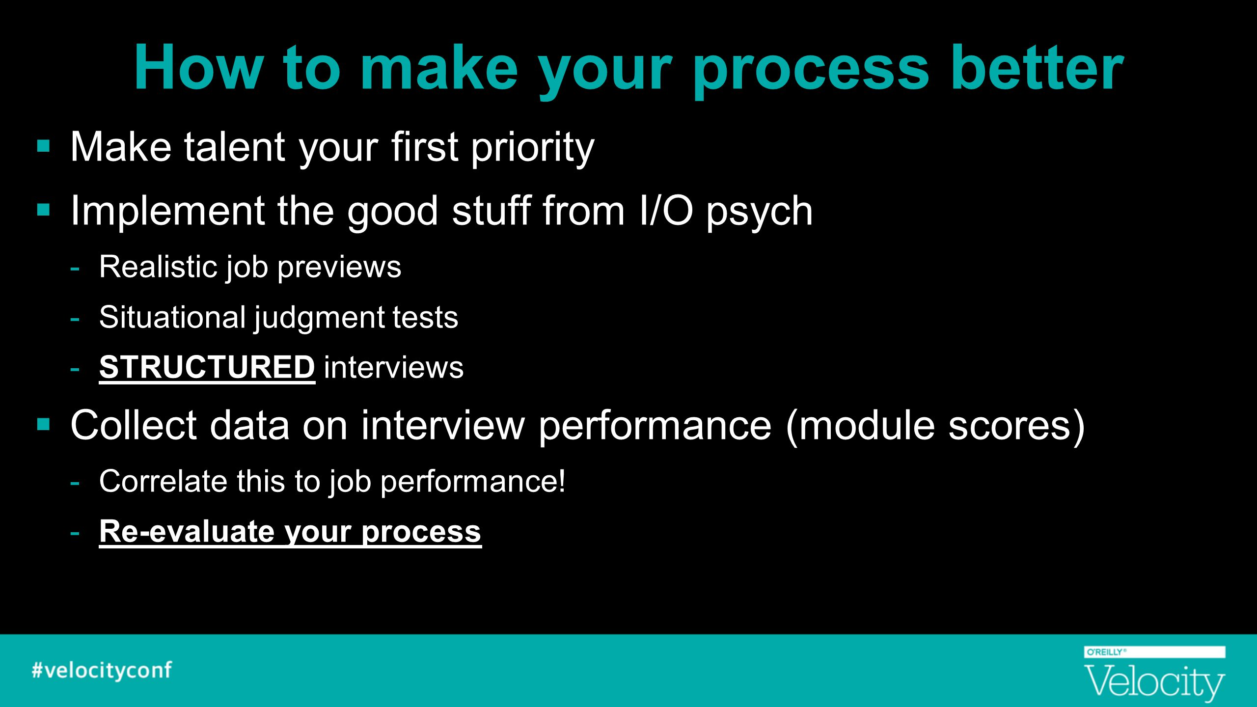 How to make your process better
