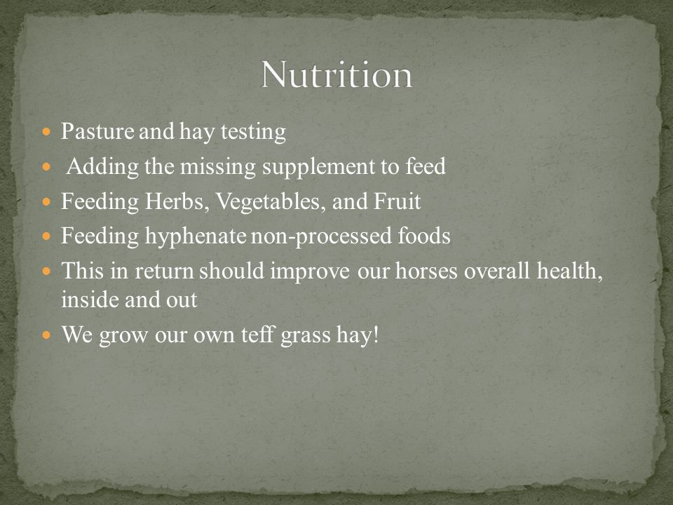Nutrition Pasture and hay testing