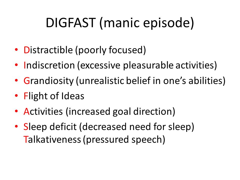 DIGFAST (manic episode)