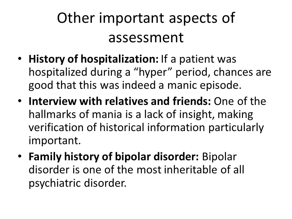 Other important aspects of assessment