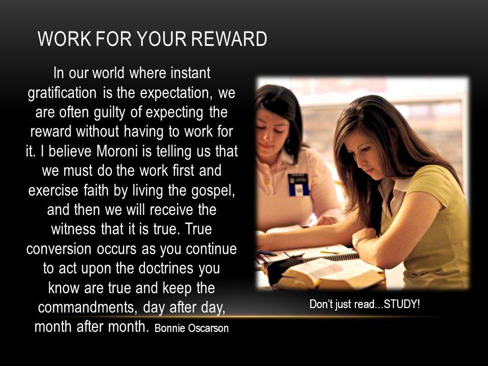 Work for your reward