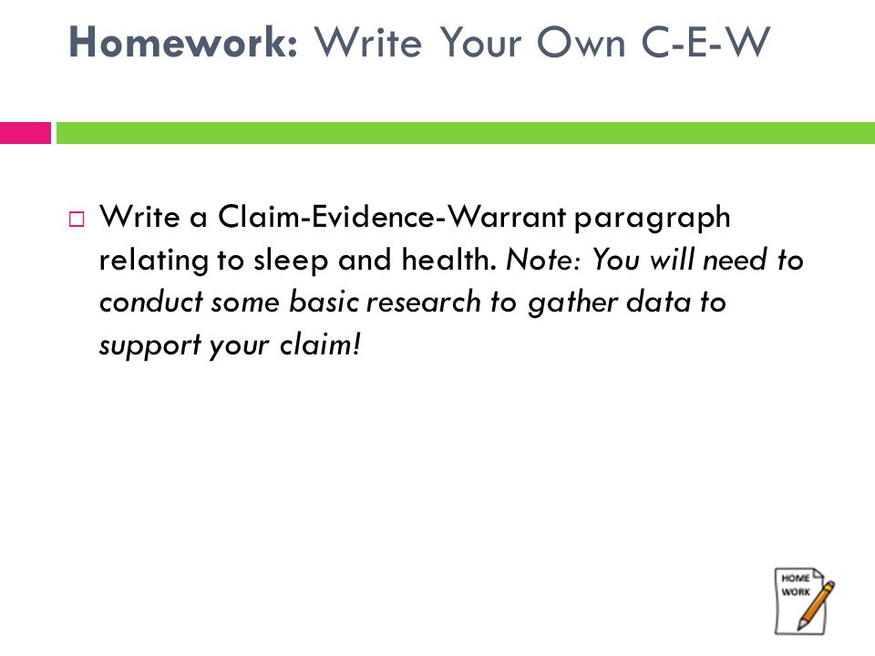 Homework: Write Your Own C-E-W