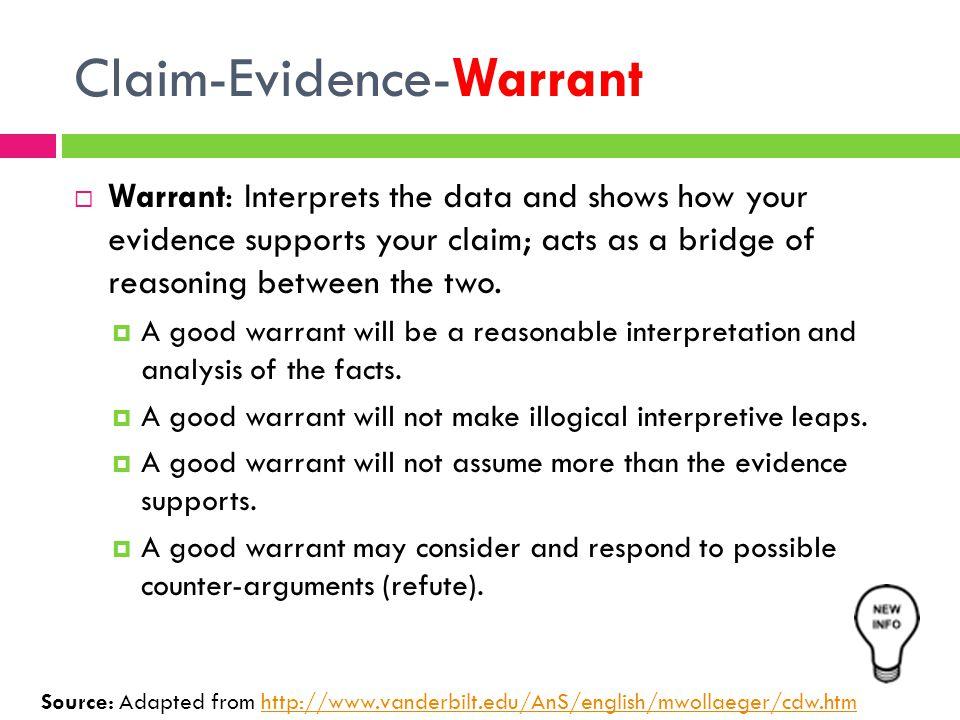 Claim-Evidence-Warrant