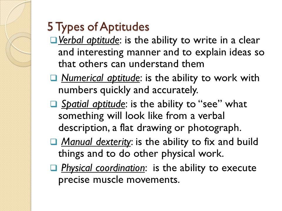 5 Types of Aptitudes
