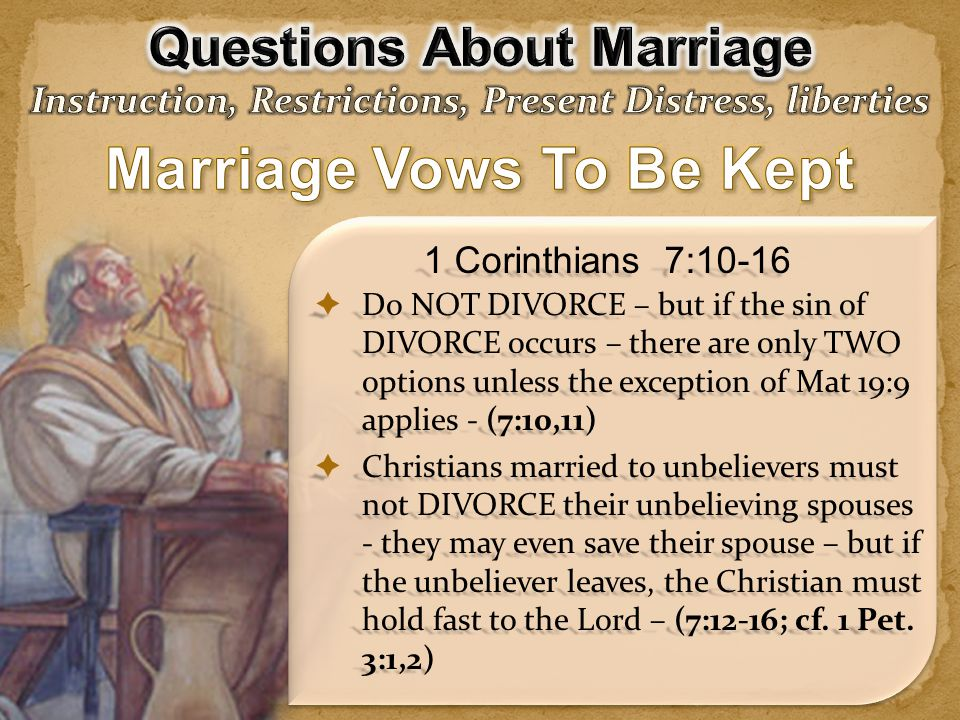 Marriage Vows To Be Kept