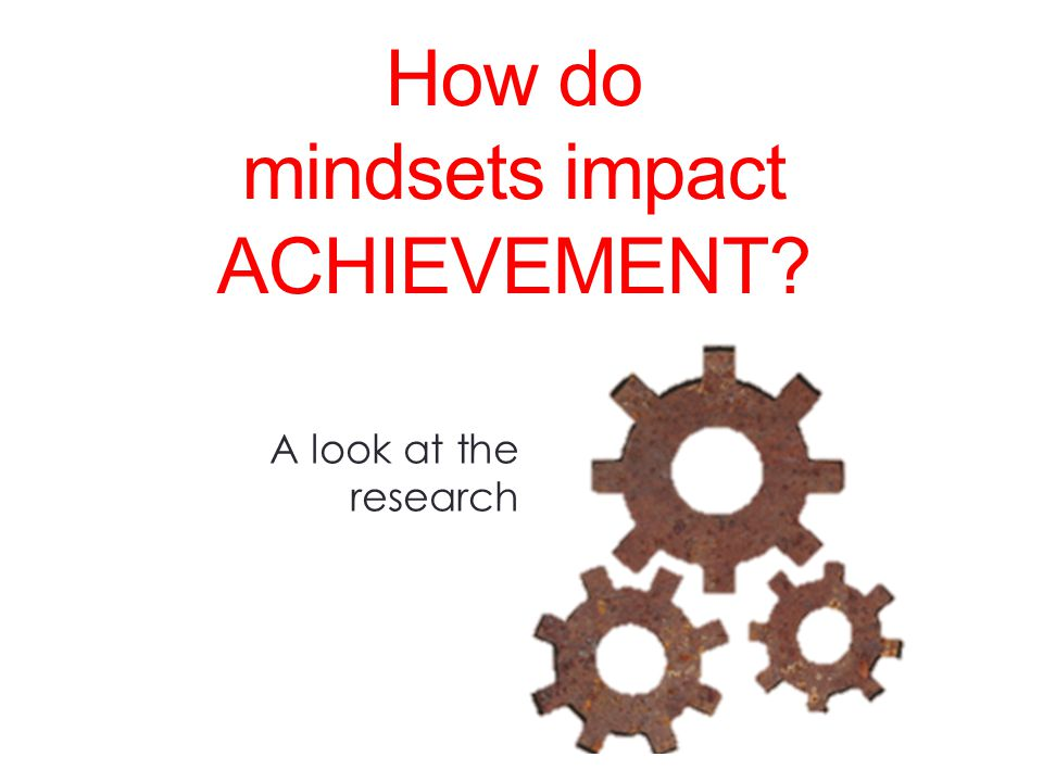 How do mindsets impact ACHIEVEMENT