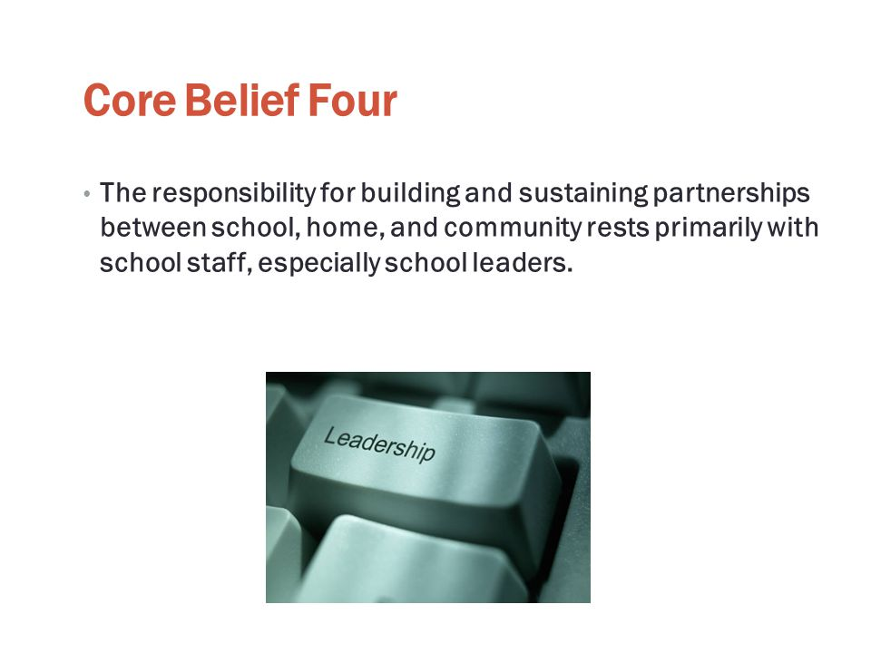 Core Belief Four