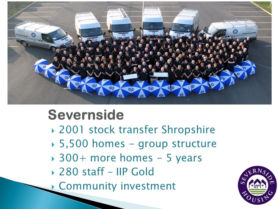 Severnside 2001 stock transfer Shropshire