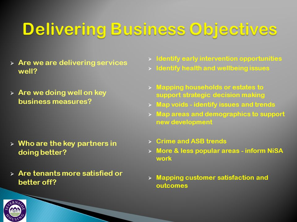 Delivering Business Objectives