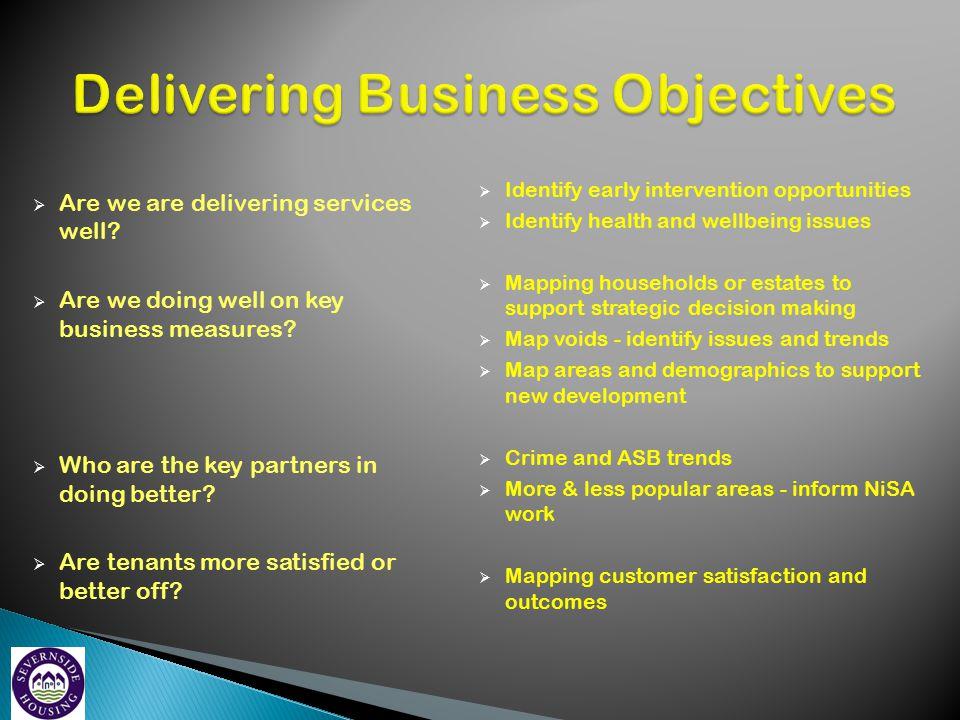 Delivering Business Objectives