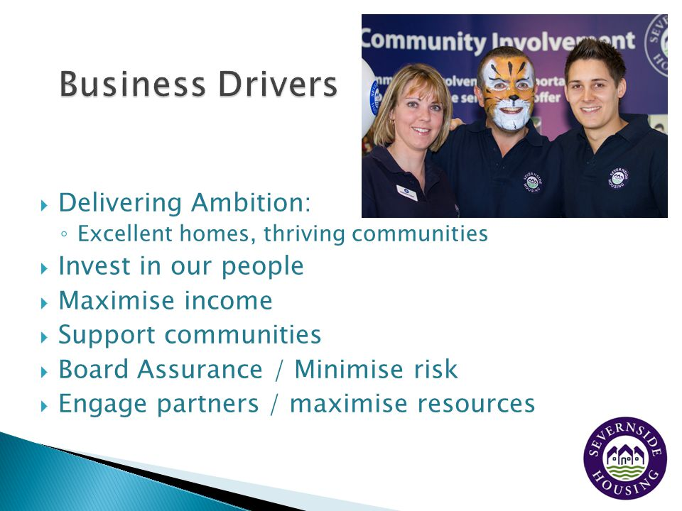 Business Drivers Delivering Ambition: Invest in our people