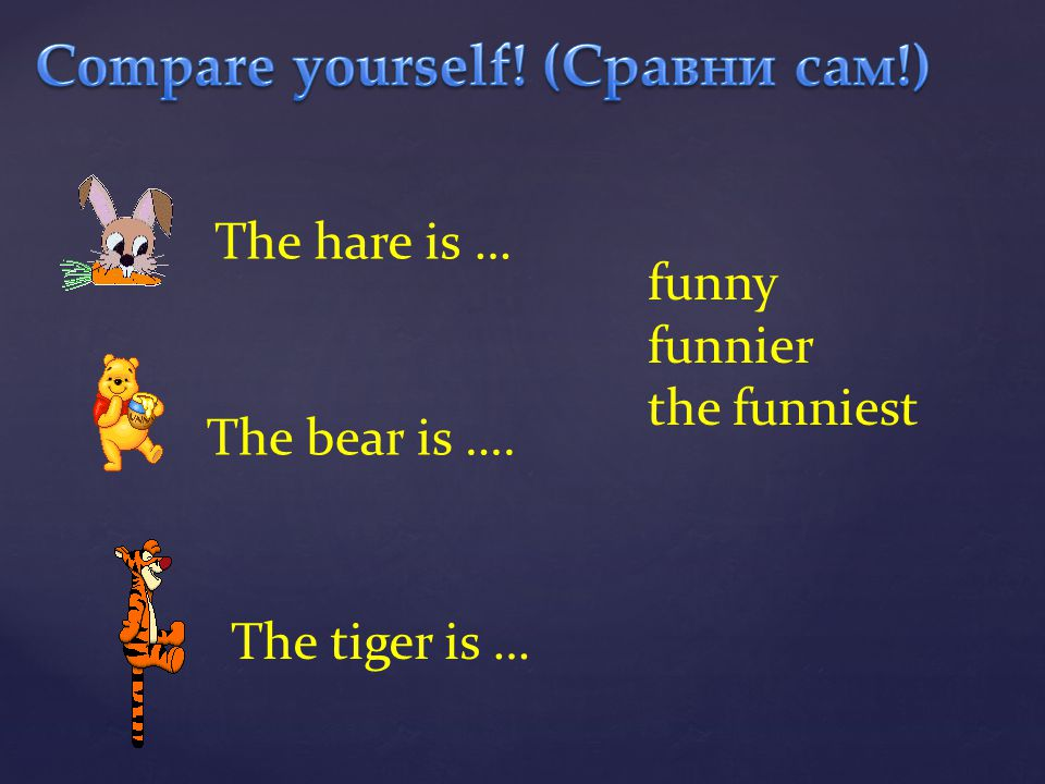 Compare yourself! (Сравни сам!)